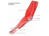 Elleboog met verwijderbare spieren