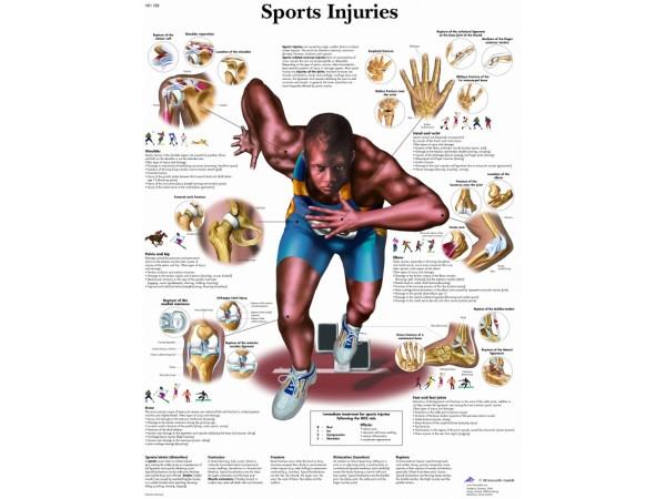 Sportblessures, papieren wandplaat