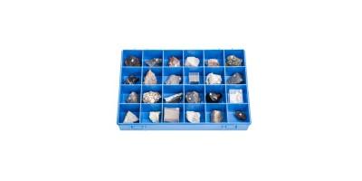 Verzameling Vulkanische Gesteenten en Mineralen (24 stuks)