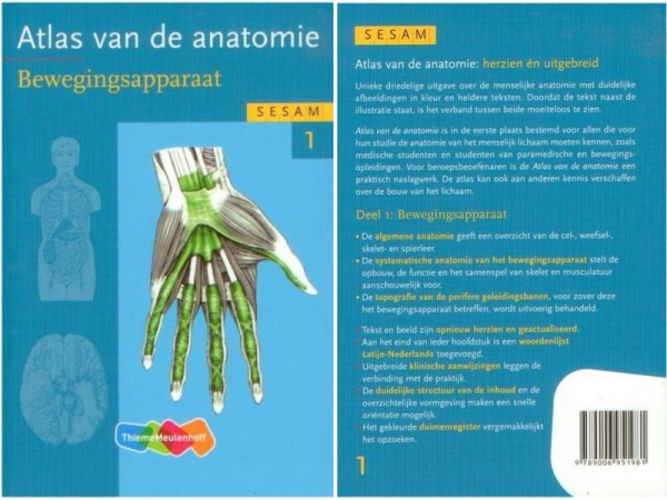 Sesam Atlas van de Anatomie, cassette met delen 1,2, & 3